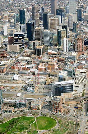 Downtown Denver aerial
