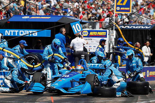 2018 Verizon IndyCar Series - Firestone Grand Prix of St. Petersburg<br /> St. Petersburg, FL USA<br /> Sunday 11 March 2018<br /> Ed Jones, Chip Ganassi Racing Honda, pit stop<br /> World Copyright: Michael L. Levitt<br /> LAT Images<br /> ref: Digital Image _01I5203