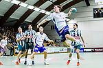 Stockholm 2014-03-02 Handboll Elitserien Hammarby IF - Ystads IF :  <br /> Ystads Mikkel Sj&ouml;berg med ett avslut mot m&aring;l<br /> (Foto: Kenta J&ouml;nsson) Nyckelord:  Ystad Bajen HIF