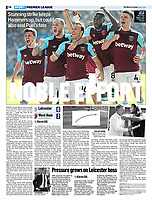The Mail On Sunday - 06-May-2018 - 'NOBLE EFFORT' - Photo by Rob Newell (Camerasport via Getty Images)