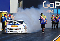 Jul. 26, 2013; Sonoma, CA, USA: NHRA pro stock driver Steve Kent during qualifying for the Sonoma Nationals at Sonoma Raceway. Mandatory Credit: Mark J. Rebilas-