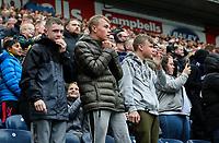 Preston North End fans nervously watch on as their side prepare to take a penalty kick<br /> <br /> Photographer Alex Dodd/CameraSport<br /> <br /> The EFL Sky Bet Championship - Preston North End v Bristol City - Saturday 28th September 2019 - Deepdale Stadium - Preston<br /> <br /> World Copyright © 2019 CameraSport. All rights reserved. 43 Linden Ave. Countesthorpe. Leicester. England. LE8 5PG - Tel: +44 (0) 116 277 4147 - admin@camerasport.com - www.camerasport.com