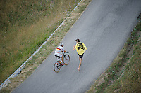 German Champion Emanuel Buchmann (DEU/Bora-Argon18) up Col d'Allos (1C/2250m/14km/5.5%)<br /> <br /> stage 17: Digne-les-Bains - Pra Loup (161km)<br /> 2015 Tour de France