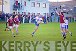 Bryan Sheehan left no doubt as he drove this ball through the attempted block of Dromids Donal Michael O'Sullivan to put another score on the sheet for St Marys.