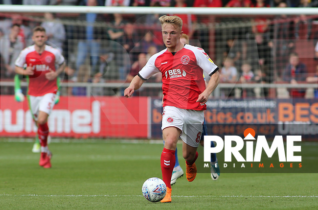 Kyle Dempsey of Fleetwood Town during the Sky Bet League 1 match between Fleetwood Town and Rochdale at Highbury Stadium, Fleetwood, England on 18 August 2018. Photo by Stephen Gaunt / PRiME Media Images.