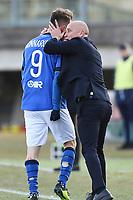 Eugenio Corini-Alfredo Donnarumma<br /> Brescia 23-02-2019 <br /> Football Serie B 2018/2019 Brescia - Crotone <br /> Foto Image Sport / Insidefoto