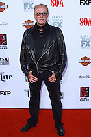 HOLLYWOOD, LOS ANGELES, CA, USA - SEPTEMBER 06: Peter Weller arrives at the Los Angeles Premiere Of FX's 'Sons Of Anarchy' Season 7 held at the TCL Chinese Theatre on September 6, 2014 in Hollywood, Los Angeles, California, United States. (Photo by David Acosta/Celebrity Monitor)