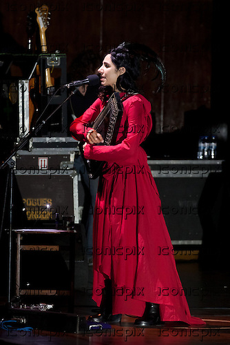 PJ Harvey - performing live at Aula Magna in Lisbon Portugal - May 26, 2011.  Photo credit: Rui Leal/Dalle/IconicPix