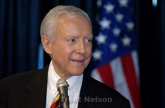 Orrin Hatch speaks at Law Day 2005 at Salt Lake City's Wells Fargo Building.<br />