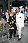Author and President of the Terrie Williams Agency Terrie Williams and  Ryan H. Stewart of the Terrie Williams Agency Attend The 2nd Annual Compound Foundation Benefit Honoring Academy Award-Winning Actor Louis Gossett, JR, Celebrity Photographer Johnny Nunez, Cartoon Network President & COO Stuart C. Snyder hosted by Ne-Yo and Kevin Hart Held at Private Location in East Hamptons, NY