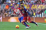 30.01.2016 Camp Nou, Barcelona, Spain. La Liga day 22 match between FC Barcelona and Atletico de Madrid. Neymar tour arround for a space