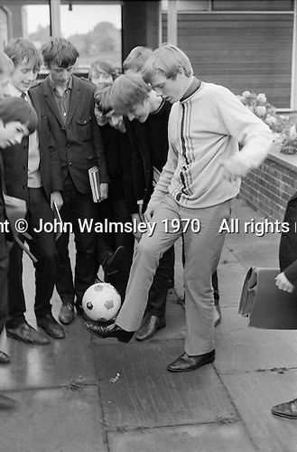 "Playing ""Keey, uppy"", Whitworth Comprehensive School, Whitworth, Lancashire.  1970."