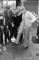 "Playing ""Keey, uppy"", Whitworth Comprehensive School, Whitworth, Lancashire.  1970."