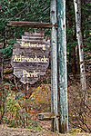 Entrance sign to Adirondack Park, Pitcairn, New York, USA