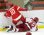 Patrick Kennedy (Cornell - 10), Brendan Rempel (Harvard - 42) - The visiting Cornell University Big Red defeated the Harvard University Crimson 2-1 on Saturday, January 29, 2011, at Bright Hockey Center in Cambridge, Massachusetts.