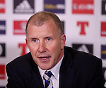 Stewart Regan at Hampden today for the appointment of a new SFA Performance Director