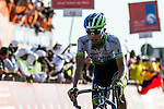 Esteban Chavez (COL) Orica GreenEdge wins Stage 3, The Al Ain Stage, of the 2015 Abu Dhabi Tour starting from the Al Qattara Souq in Al Ain and running 129 km to the mountain top finish at Jebel Hafeet at 1025 metres, Abu Dhabi. 10th October 2015.<br /> Picture: ANSA/Angelo Carconi | Newsfile
