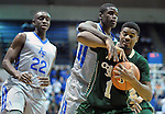January 20, 2016 - Colorado Springs, Colorado, U.S. -  Colorado State guard, Antwan Scott #1, works to keep control of the ball against Air Force guard, Trevor Lyons #20, during an NCAA basketball game between the Colorado State University Rams and the Air Force Academy Falcons at Clune Arena, United States Air Force Academy, Colorado Springs, Colorado.  Colorado State defeats Air Force 83-79.