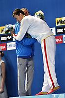 PALTRINIERI Gregorio ITA  Silver Medal , SUN Yang CHN Gold Medal Men's 800m Freestyle <br /> Day13 05/08/2015 Kazan Arena <br /> Swimming Nuoto <br /> XVI FINA World Championships Aquatics  <br /> Kazan Tatarstan RUS <br /> Photo Andrea Staccioli/Deepbluemedia/Insidefoto