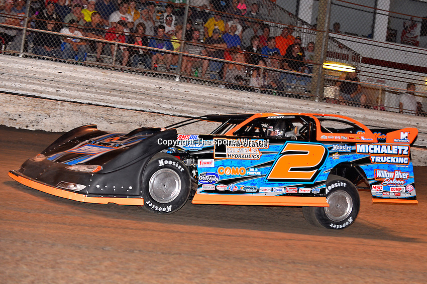Feb 20, 2014; 6:58:55 PM;  Barberville, FL, USA;  World of Outlaws Late Model Series for 43rd Annual DIRTcar Nationals presented by Summit Racing Equipment at Volusia Speedway Park.  Mandatory Credit: (thesportswire.net)