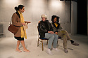 A THOUSAND MILES OF HISTORY, a new play, written and directed by Harold Finley, opens at the Bussey Building, The Royal Court's theatre local, in Peckham Rye. The play is set in the 1980s and centres on the relationship by the three artists: Andy Warhol, Keith Haring and Jean-Michel Basquiat. Picture shows: Lisa Carrucio Came (Mary Boone), Adam Riches (Andy Warhol) and Michael Walters (Jean-Michel Basquiat).