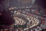 Automobile congestion, Seattle, Interstate 5, business district, rain, Pacific Northwest,