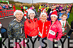Alan Mulgrew, Sharon Condon, Pauline Burke Crean and Tauseef Haq, who took part in the Santa 5k run which took place at Tralee Wetlands Centre on Sunday.