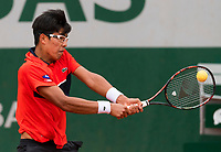 HYEON CHUNG (KOR)<br /> <br /> TENNIS - FRENCH OPEN - ROLAND GARROS - ATP - WTA - ITF - GRAND SLAM - CHAMPIONSHIPS - PARIS - FRANCE - 2017  <br /> <br /> <br /> <br /> &copy; TENNIS PHOTO NETWORK