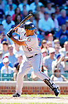 2 July 2005: Jose Guillen, outfielder for the Washington Nationals, goes 2 for 4 at the plate against the Chicago Cubs. The Nationals defeated the Cubs 4-2 in front of 40,488 at Wrigley Field in Chicago, IL. Mandatory Photo Credit: Ed Wolfstein