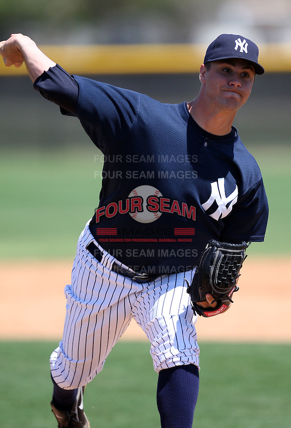 March 26, 2010:  Pitcher Adam Olbrychowski of the New York Yankees organization during Spring Training at the Yankees Minor League Complex in Tampa, FL.  Photo By Mike Janes/Four Seam Images
