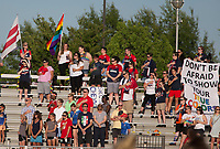 Boyds, MD. - Saturday, June 24 2017:  Fans during a regular season National Women's Soccer League (NWSL) match between the Washington Spirit and the Portland Thorns FC at Maureen Hendricks Field, Maryland SoccerPlex.<br />  The Washington Spirit defeated the Portland Thorns FC 1-0.