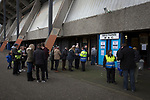 Spectators being searched by security personnel at the turnstiles before City hosted Montrose in a vital League 2 fixture at Meadowbank. City were looking for points in their bid to avoid relegation in their first season in League 2 after promotion from the Lowland League in 2015-16. The match ended 1-1, Josh Walker scoring for City, with Montrose equalising in the last minute, watched by a crowd of 346.