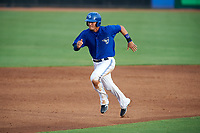 Dunedin Blue Jays first baseman Max Pentecost (3) running the bases during a game against the Bradenton Marauders on July 17, 2017 at Florida Auto Exchange Stadium in Dunedin, Florida.  Bradenton defeated Dunedin 7-5.  (Mike Janes/Four Seam Images)