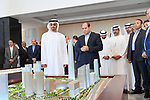 Egyptian President Abdel-Fattah al-Sisi and Crown Prince of Abu Dhabi Sheikh Mohamed bin Zayed Al Nahyan visit the New El Alamein City, Egypt, on March 28, 2019. Photo by Egyptian President Office