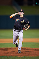 Fresno Grizzles pitcher Jonas Dufek (53) delivers a pitch during a game against the Oklahoma City Dodgers on June 1, 2015 at Chickasaw Bricktown Ballpark in Oklahoma City, Oklahoma.  Fresno defeated Oklahoma City 14-1.  (Mike Janes/Four Seam Images)