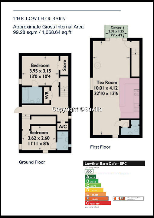 BNPS.co.uk (01202)558833<br /> Pic:    Savills/BNPS<br /> <br /> Floor plan of Lowther Barn.<br /> <br /> A country estate that has its own farm, tea rooms and glamping business in the heart of the Lake District has gone on market for those looking to escape the rat race.<br /> <br /> Backside Farm sits on the banks of Ullswater - the second largest lake in the Cumbrian National Park - and has one mile of water access as well as stunning views of the mountains. <br /> <br /> The outgoing owners have been on the 195 acre estate for over a decade and in that time they have renovated the large five bedroom farmhouse.<br /> <br /> They also set up the tea rooms and two holiday rental cabins and have established them as a business.