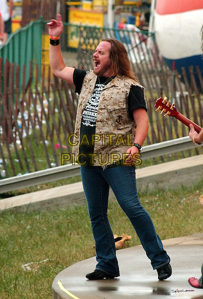 JOHNNY VAN ZANT of LYNYRD SKYNYRD.Lynyrd Skynyrd Headlines the .29th Annual Jamboree In The Hills 2005, Morristown, OH, USA, July 17, 2005..full length stage country music festival gig concert live.Ref: ADM.www.capitalpictures.com.sales@capitalpictures.com.©Jason Nelson/AdMedia/Capital Pictures.
