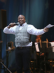 Tituss Burgess on stage at United Airlines Presents #StarsInTheAlley free outdoor concert in Shubert Alley on 6/2/2017 in New York City.