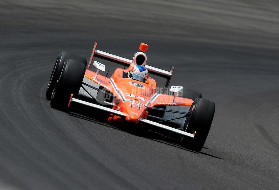 May 30, 2010; Indianapolis, IN, USA; IndyCar Series driver Mario Romancini during the Indianapolis 500 at the Indianapolis Motor Speedway. Mandatory Credit: Mark J. Rebilas-