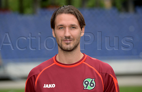 11.07.2013. Hannover, Germany.  Player Christian Schulz of German Bundesliga club Hannover 96 during the official photocall for the season 2013-14 in the HDI Arena in Hannover (Lower Saxony).