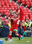 Johnny Hayes celebrates his winning goal for Aberdeen