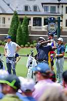 Vijay Singh (FJI) watches his tee shot on 8 during Saturday's round 3 of the PGA Championship at the Quail Hollow Club in Charlotte, North Carolina. 8/12/2017.<br /> Picture: Golffile | Ken Murray<br /> <br /> <br /> All photo usage must carry mandatory copyright credit (&copy; Golffile | Ken Murray)