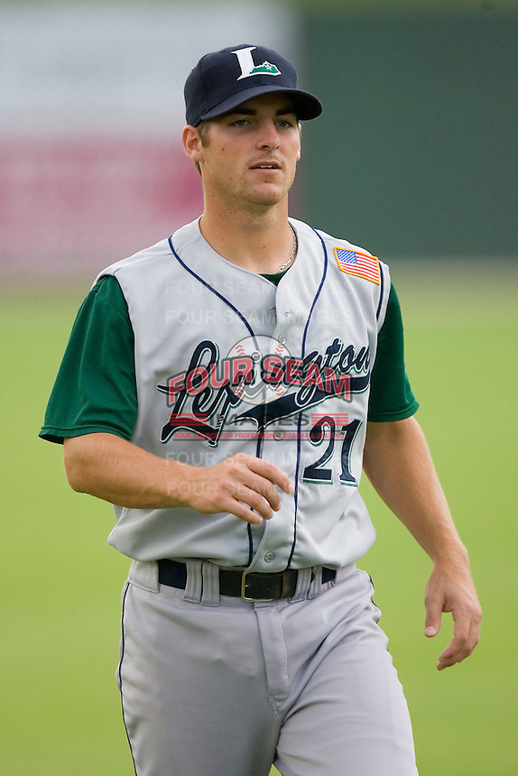 Brandon Wikoff #21 of the Lexington Legends at Fieldcrest Cannon Stadium August 19, 2009 in Kannapolis, North Carolina. (Photo by Brian Westerholt / Four Seam Images)