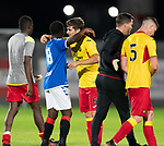 26.08.2019 Rangers Colts v Partick Thistle: Cammy Palmer, on loan from Rangers to Partick, greets Serge Atakayi at full time