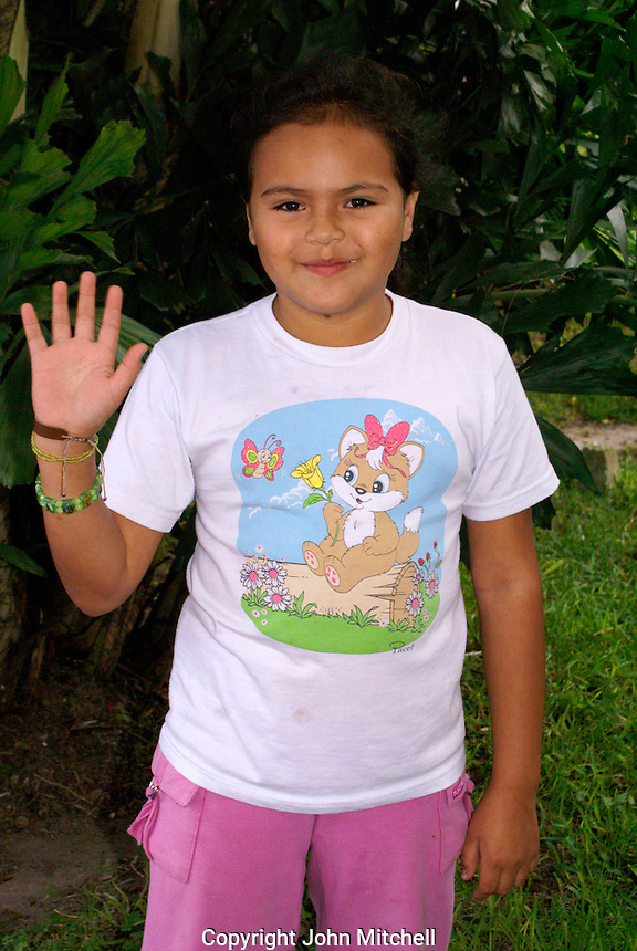 Young Honduran girls ten to twelve years old, Santa Rosa de Copan, Honduras.