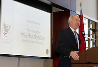 NWA Democrat-Gazette/DAVID GOTTSCHALK   Governor Asa Hutchinson speaks Thursday, February 9, 2017, during a dedication ceremony for Springdale's new Don Tyson School of Innovation campus. The school is named after Donald Tyson former chairman and chief executive officer of Tyson Foods. Half of the campus opened in August, with construction wrapping up on the other half in time for this semester.