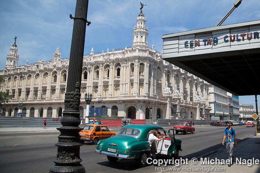 HAVANA, CUBA -- MARCH 23, 2015:  A view of the Gran Teatro de La Habana in Havana, Cuba on March 23, 2015. Photograph by Michael Nagle