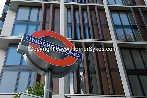 Knightsbridge Underground station. One Hyde Park Knightsbridge London. UK