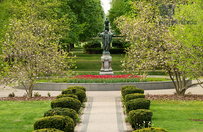 May 9, 2018; Main Quad, spring 2018. Photo by Barbara Johnston/University of Notre Dame