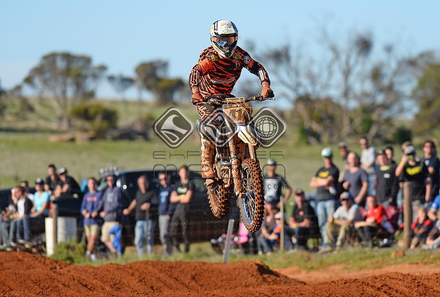 Jesse Dobson / Husqvarna<br /> 2015 MX Nationals / Round 4 / MX1<br /> Australian Motocross Championships<br /> Murray Bridge SA Sunday 17 May 2015<br /> &copy; Sport the library / Jeff Crow